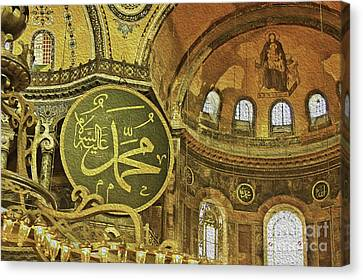 Famous The Hagia Sophia Canvas Print by Dragomir Nikolov