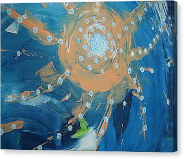 Fanciful Abstract Canvas Print by Dotti Hannum