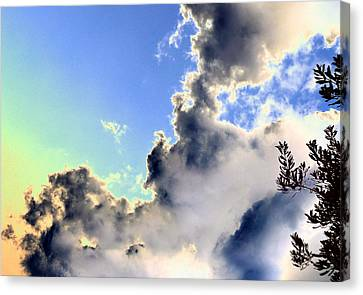 Canvas Print featuring the photograph Fanciful Sky by Jim Whalen