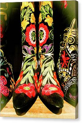 Fancy Boots Canvas Print by Angela Wright