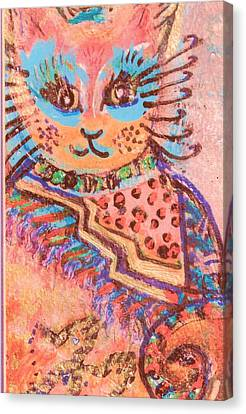 Fancy Cat Canvas Print by Anne-Elizabeth Whiteway