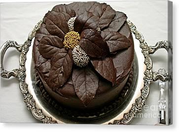 Fancy Chocolate Cake Canvas Print by Pattie Calfy