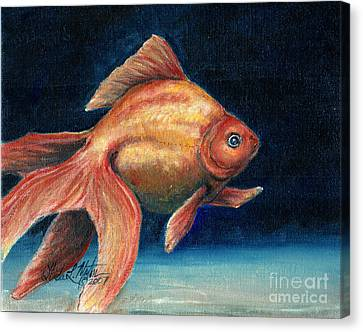 Fancy Goldfish Canvas Print by Linda L Martin