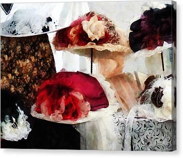 Fancy Hats Canvas Print by Susan Savad