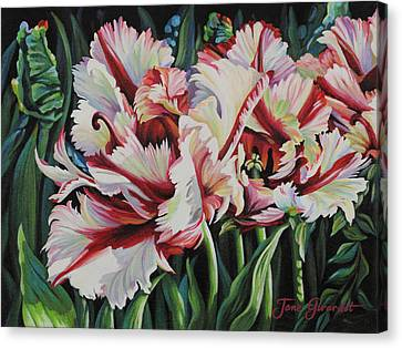 Fancy Parrot Tulips Canvas Print