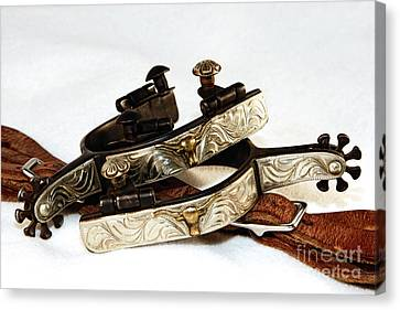 Canvas Print featuring the photograph Fancy Silver Spurs by Lincoln Rogers