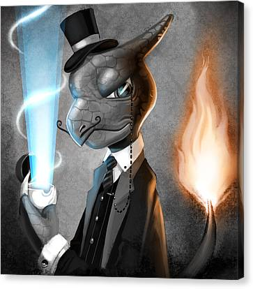 Fancy With Fire Canvas Print by Michael Myers