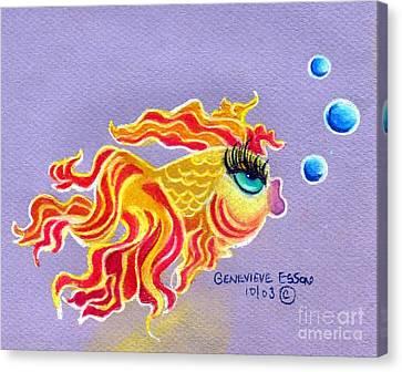 Fancytail Goldfish Canvas Print by Genevieve Esson