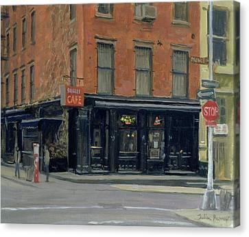 Fanellis Bar, New York, 1996 Oil On Canvas Canvas Print