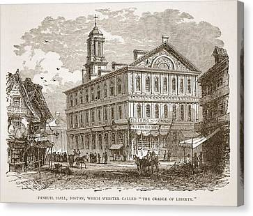 Faneuil Hall, Boston, Which Webster Canvas Print by American School
