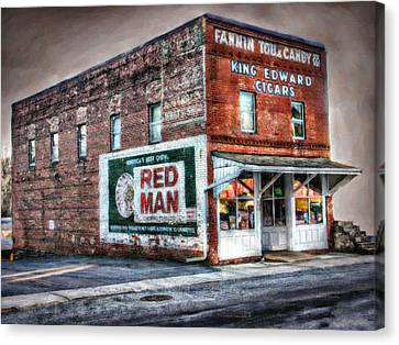 Fannin Tobacco And Candy Company Canvas Print