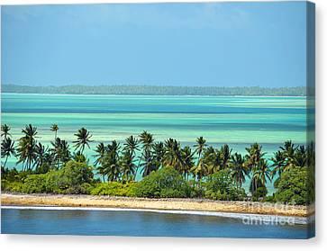 Fanning Island Canvas Print