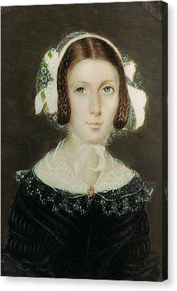 Betrothed Canvas Print - Fanny Brawne (1800-1865) by Granger