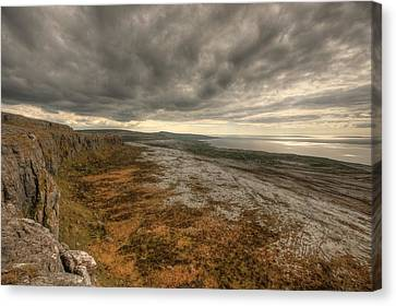 Fanore Burren View Canvas Print by John Quinn