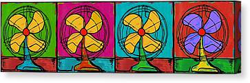 Fans In A Row Canvas Print by Dale Moses