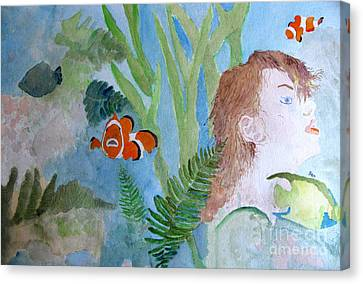 Angel Mermaids Ocean Canvas Print - Fantasia 1 by Sandy McIntire
