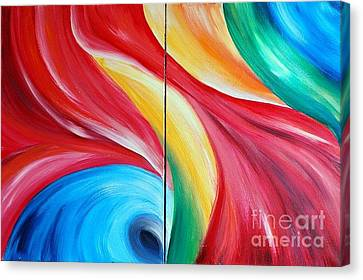 Fantasia 2 Canvas Print by Teresa Wegrzyn