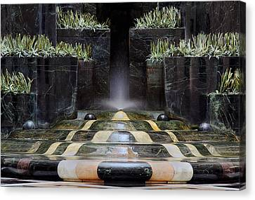 Canvas Print featuring the photograph Fantastic Fountain by Glenn DiPaola