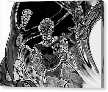 Fantastic Four  Canvas Print by Jazzboy
