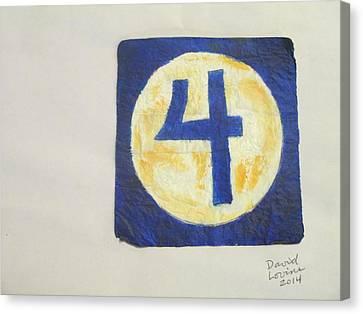 Fantastic Four Logo - Napkin Art Canvas Print by David Lovins