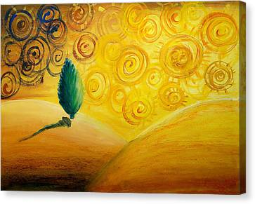 Fantasy Art - Lonely Tree Canvas Print by Nirdesha Munasinghe