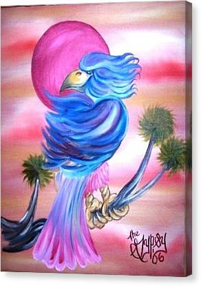 Fantasy Bird Canvas Print by The GYPSY And DEBBIE