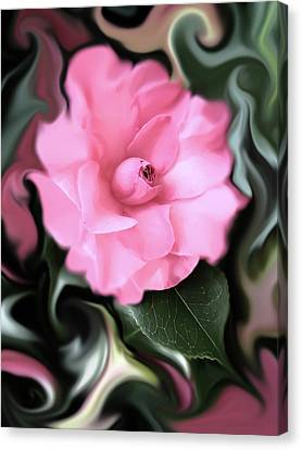 Fantasy Camellia Flower Canvas Print by Jennie Marie Schell