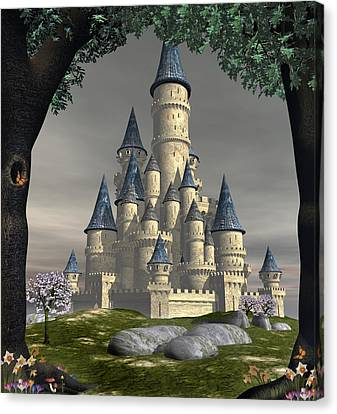 Fantasy Castle Canvas Print by David Griffith