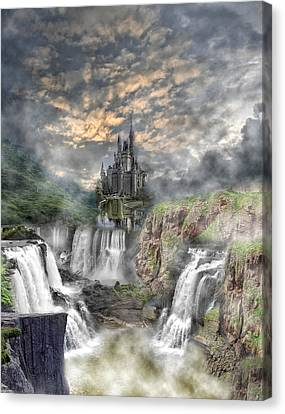 Fantasy Castle Canvas Print by Regina  Williams