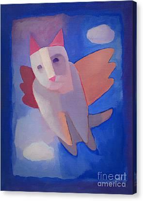 Surrealistic Canvas Print - Fantasy Cat by Lutz Baar