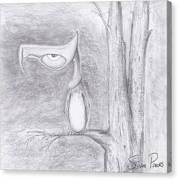 Fantasy Crow Canvas Print
