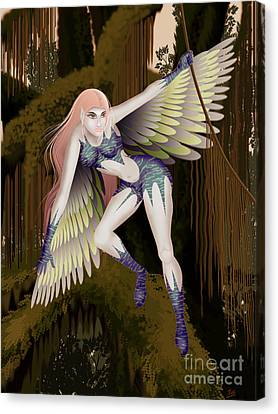 Fantasy Fairy2 Canvas Print by Kriss Orayan