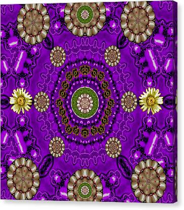 Fantasy Floral In Purple Canvas Print by Pepita Selles