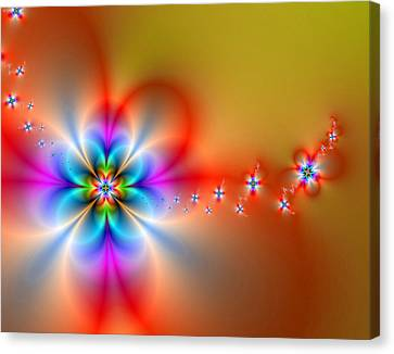 Fantasy Flowers 2 Canvas Print by Ester  Rogers