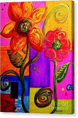 Fantasy Flowers Canvas Print by Eloise Schneider