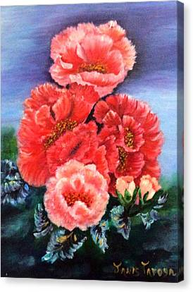 Fantasy Flowers Canvas Print by Janis  Tafoya