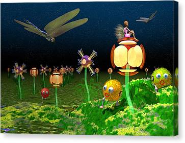 Fantasy Garden Canvas Print by Carol and Mike Werner