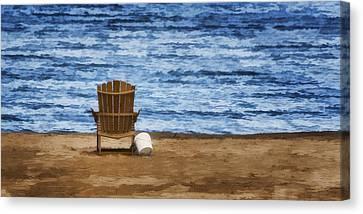 Empty Chairs Canvas Print - Fantasy Getaway by Joan Carroll
