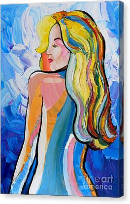 Stretched Cotton Canvas Print - Fantasy Girl  by Denisa Laura Doltu