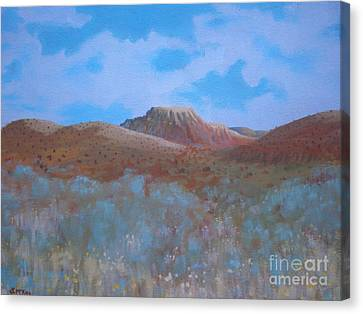 Canvas Print featuring the painting Fantasy Hills by Suzanne McKay