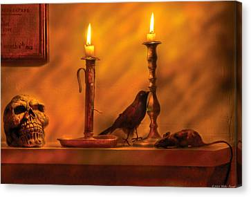 Halloween Scene Canvas Print - Fantasy - In A Wizard's House by Mike Savad