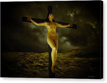 Asian Jesus Crucifix Canvas Print