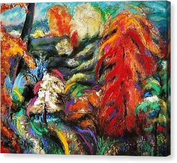 Canvas Print featuring the pastel Fantasy Landscape by Jodie Marie Anne Richardson Traugott          aka jm-ART