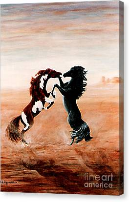 Fantasy Mustangs Canvas Print by DiDi Higginbotham