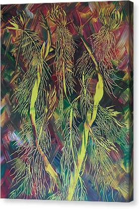 Canvas Print featuring the painting Fantasy by Nico Bielow
