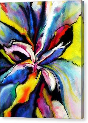 Canvas Print featuring the painting Fantasy Orchid by Jodie Marie Anne Richardson Traugott          aka jm-ART