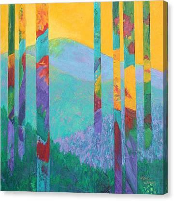 Fantasy Ridge Canvas Print by Nancy Jolley