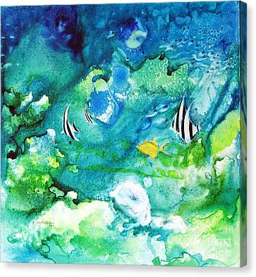 Fantasy Sea Canvas Print by Joan Hartenstein