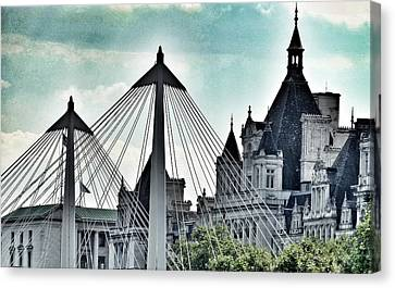 Fantasy London . Old Spires New Canvas Print by Connie Handscomb