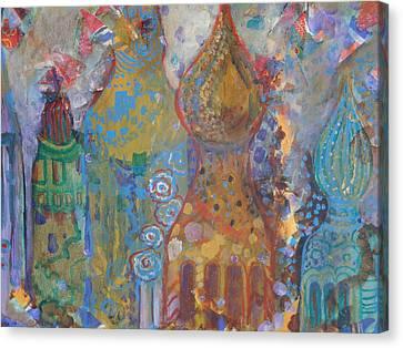 Fantasy Square Canvas Print by Norma Malerich